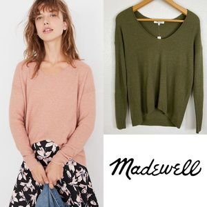 Madewell Kimball Pullover Sweater in Kale